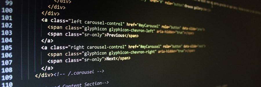 Illustration : code source, sublime text