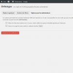Orthotypo - Orthotypographie pour WordPress - Options de debug